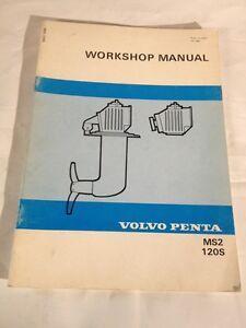 volvo penta workshop manual ms2 120s publ no 4007 10 1981 ebay rh ebay ie Pontiac Shop Manual 2007 Craftsman Garage Door Opener Manual