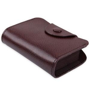 Homme-Portefeuille-cuir-veritable-Porte-Carte-Credit-Visite-cafe-Wallet-Card-Bag