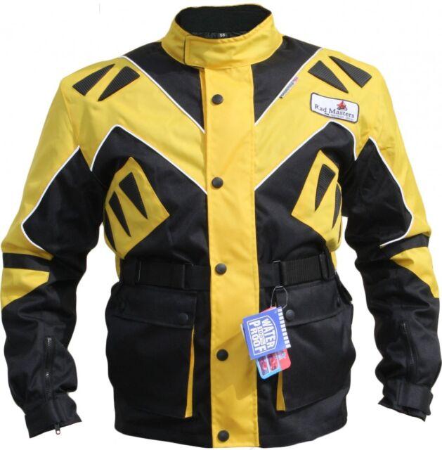 Motorradjacke Textil Gelb/schwarz