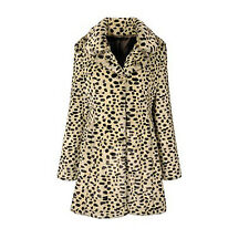 MISS SELFRIDGE SIZE 6-8 FAUX FUR LEOPARD PRINT WOMENS GIRLS JACKET LADIES COATS