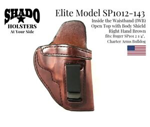 SHADO-Leather-Holster-USA-Elite-Model-SP1012-143-Right-Hand-Brown-IWB-Ruger-SP