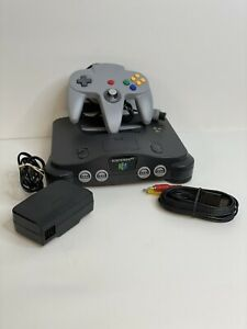 Nintendo 64 N64 System - Console & Cables - Controller - Tested & Cleaned