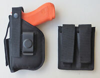 Gun Holster & Mag Pouch Combo For S&w Sw9ve,sw40ve,sigma With Underbarrel Laser