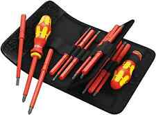 Wera 1000v Electrician VDE Interchangeable Blade Screwdriver Set + 2 HANDLES!