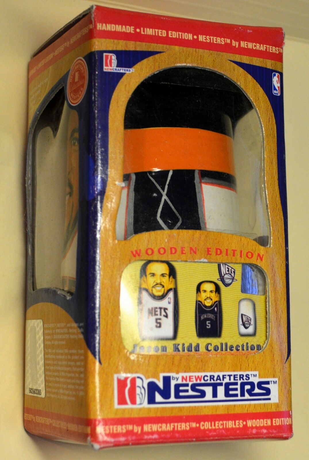 JASON KIDD Nesting Dolls NESTERS LIMITED EDITION WOODEN original box