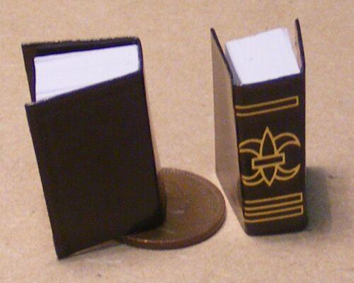 1:12 escala 2 Libros negras gruesas de apertura para una Biblioteca Estudio tumdee Casa De Muñecas