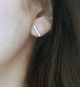 Small-Sterling-Silver-925-Modern-Simple-Bar-Studs-Post-Earrings-Mom-Wife-Gift
