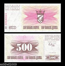 Bosnia Herzegovina 500 Dinara 1992 P-14 Perfecto Unc sin circulación los billetes de banco