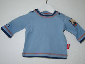 Langarmshirt-blau-mit-Hundeapplikation-Fuer-Babyjungs-Sigikid-Groesse-50