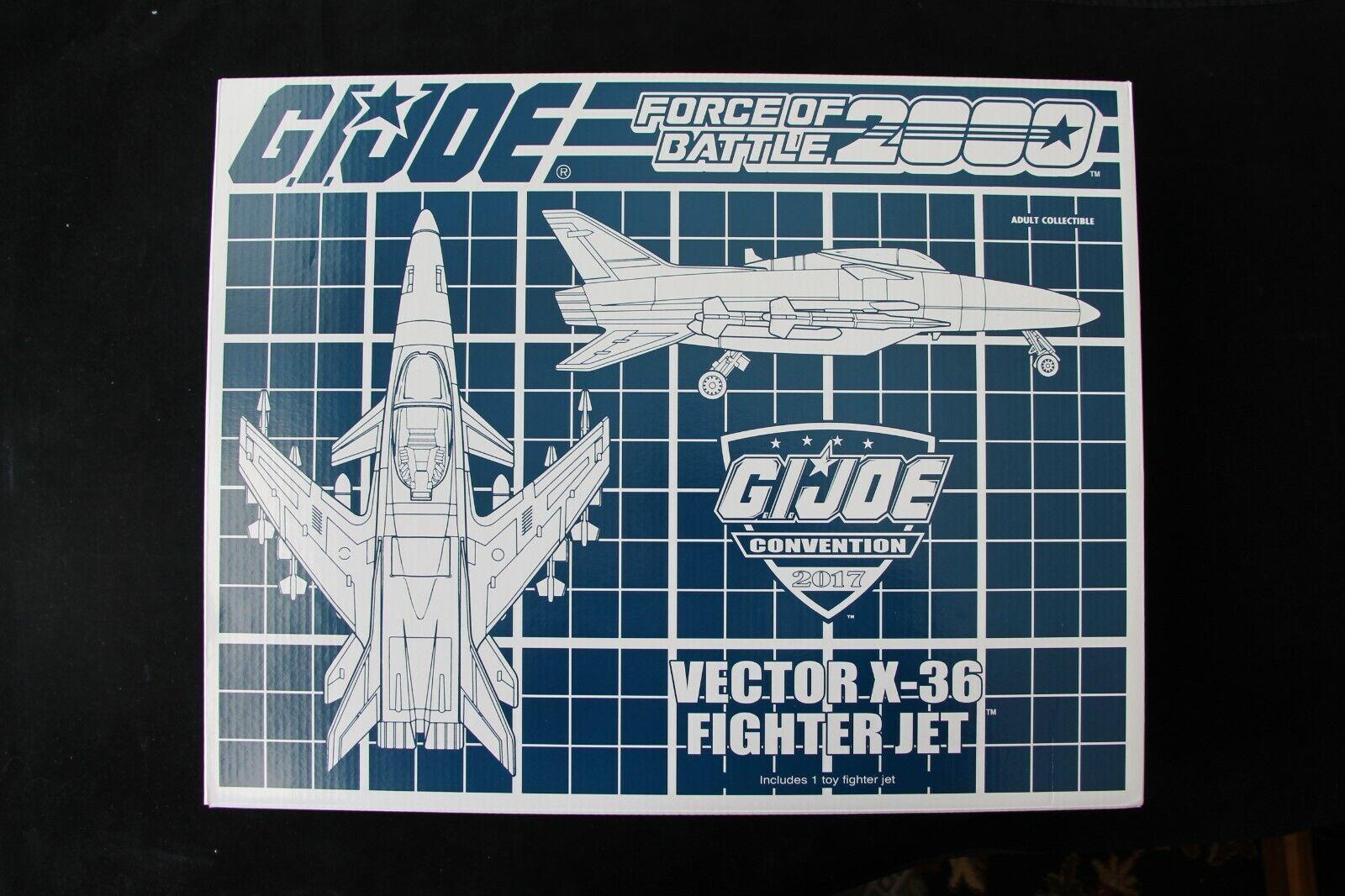 GI Joe Hasbro Joecon 2017 Force of Battle 2000 Vector X-36 Fighter New MISB