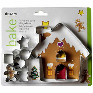 Image Is Loading Dexam Make Amp Bake Gingerbread House Cookie Cutter