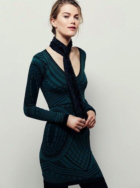 New Free People Intimately damen Illusion Bodycon Seamless Slip Dress n
