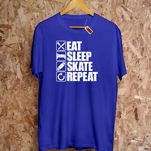 Eat Sleep SKATE Repeat T-Shirt Skating Skateboarding Ramp BMX 360 Gift Hoodie