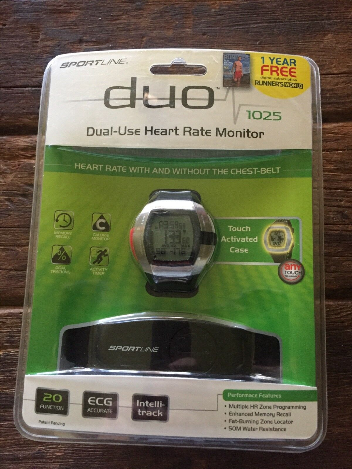 Duo 1025 Dual-Use Heart Rate Monitor Sportline brand new