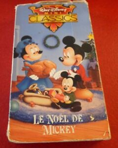 VHS-Movie-Walt-Disney-Mini-Classics-Le-Noel-de-Mickey-Version-Francaise