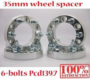 4-35mm-6-Stud-6x139-7mm-5-5-034-12x1-5-Wheel-Spacers-Spacer-Silver-Toyota-Hilux