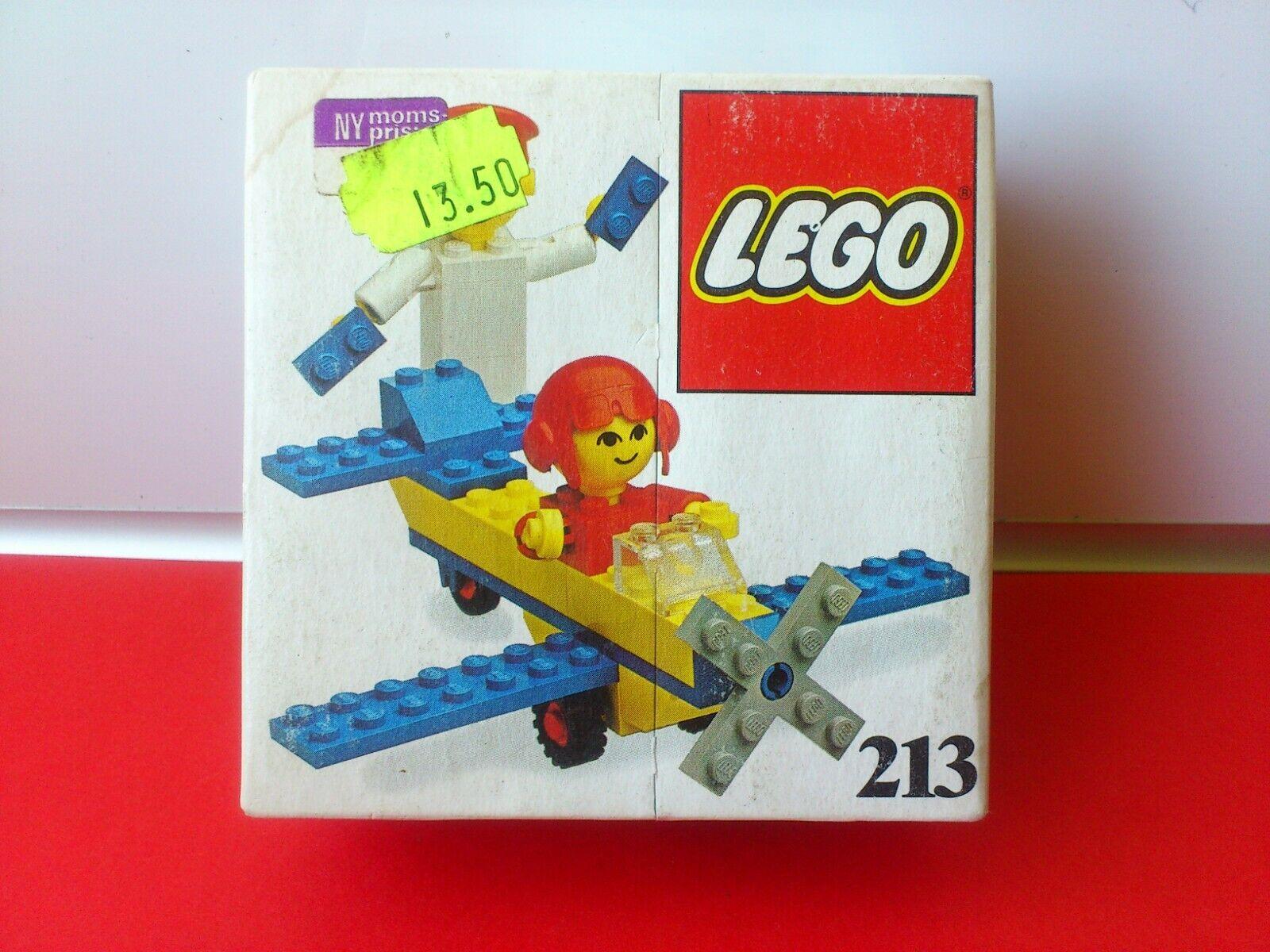 Vintage Lego set No.213. avion. unopened box. de 1977.  RARE.  réductions incroyables