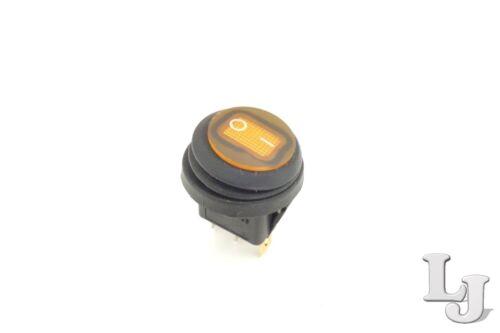 Wippschalter Rund 22mm Ø Gelb LED beleuchtet 230V//6A KFZ Boot Wasserdicht IP65