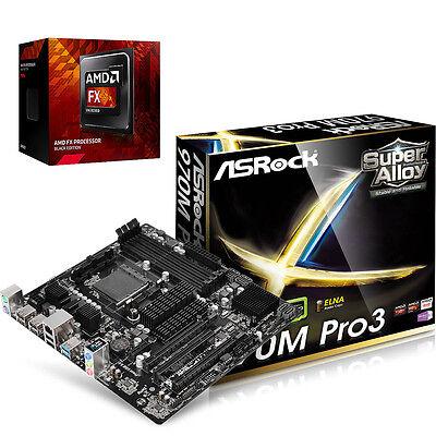 COMBO: AMD FX 8320e 8-CORE CPU & ASRock 970M PRO AM3+ micro-ATX Motherboard NEW