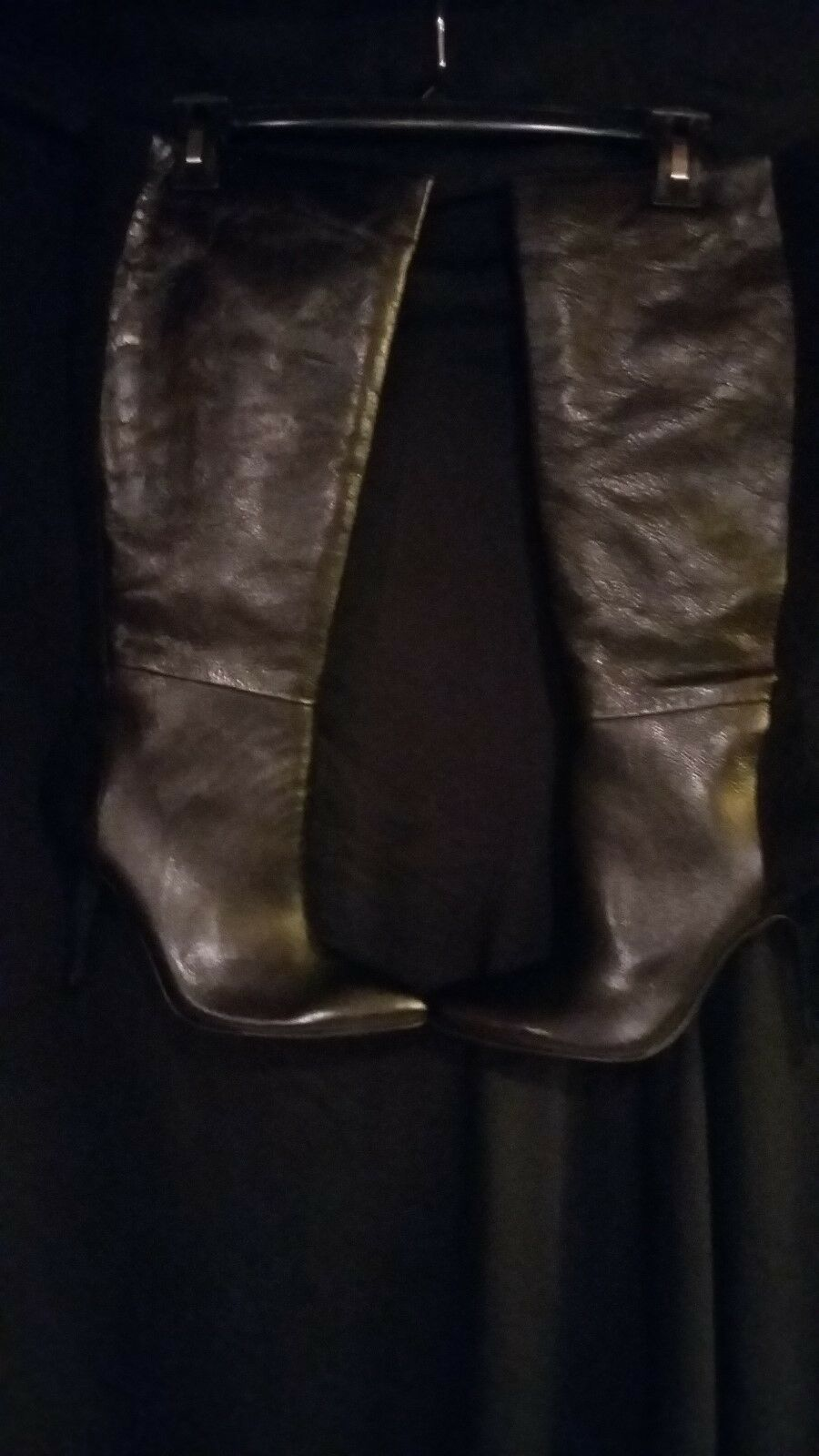 NEW  Jessica  Simpson. tall black LEATHER & suede boot size 10