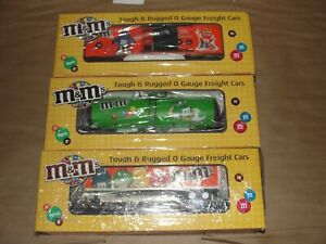3-MTH-RAILKING-30-73266-30-76278-30-76278-M-amp-M-CANDY-TOY-TRAIN-O-GAUGE-FREIGHT