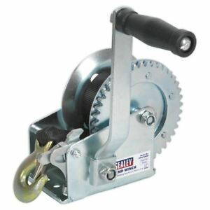 Sealey-GWW1200M-Geared-Hand-Winch-540kg-Capacity-with-Webbing-Strap