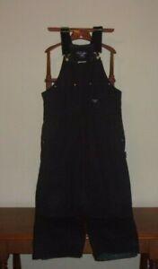 Walls-Work-Wear-Men-039-s-Size-L-S-38-40-Black-Insulated-Black-Duck-Bib-Overalls