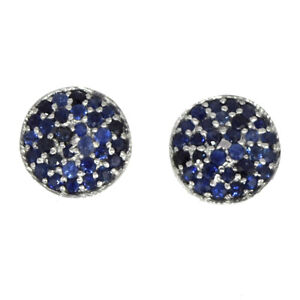 Shine-Jewel-925-Sterling-Silver-1-MM-Blue-Sapphire-Cluster-Tiny-Stud-Earring