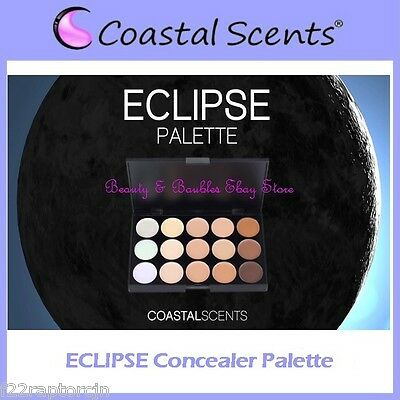 Coastal Scents ECLIPSE Concealer Palette w/Case 15 Cream Shades FREE SHIPPING