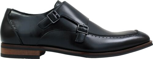 Noir strap Adams Monk Homme Double Baldwin Mocassins Stacy Moc Toe xzZgnTWwq