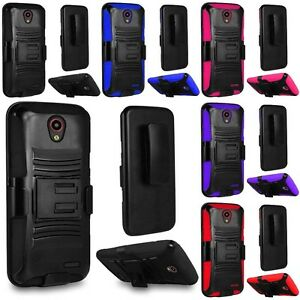 For-ZTE-Maven-2-Sonata-3-Prestige-Avid-Plus-Armor-Hard-Belt-Case-Cover