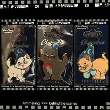 Disney Wdi Characters Sorcerer's Hat Aristocats Marie Toulouse Berlioz Cat Pins