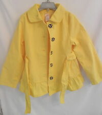 Gymboree Girls Yellow Rain Coat Jacket w/ black and white bottom Sz S (5-6)