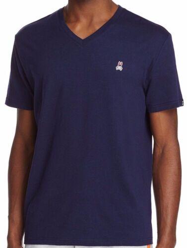 Psycho Bunny Homme Applique Bunny col V en coton mélangé vareuse bleu S//S T-Shirt