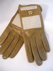 Etienne-Aigner-Signature-Gloves-Genuine-Leather-Gloves-Taupe