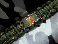 """U.S. Army 10th Field Artillery Regiment """"The Rock's Support"""" Paracord Key Fob"""