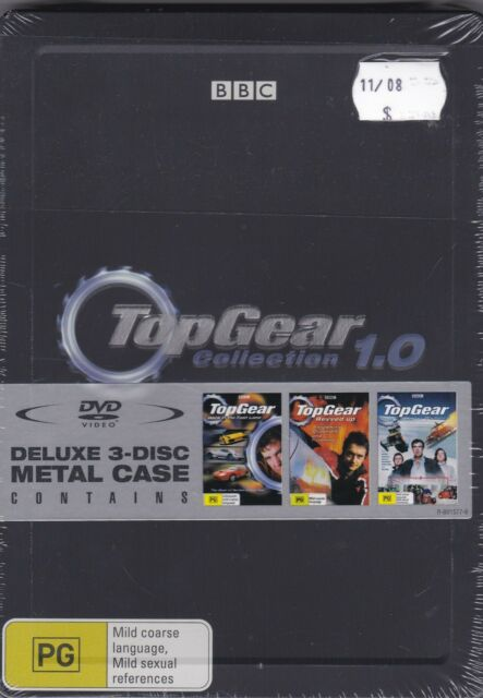 TopGear - Collection 1.0 - DVD x 3 (Brand New Sealed) Metal Case  Region 4 PAL