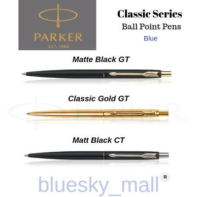 MATTE BLACK CT GT PARKER CLASSIC BALLPOINT PEN STAINLESS STEEL SILVER GOLD