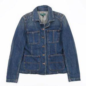 Vintage-RALPH-LAUREN-Blue-Casual-Classic-Denim-Jacket-Womens-Size-Small