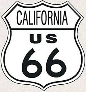 Cartello-scudo-con-stampa-039-California-Route-66-039