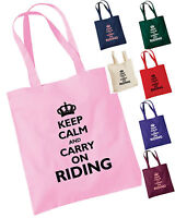 KEEP CALM AND CARRY ON RIDING FUNNY HORSE TOTE / GROOMING / SHOPPING BAG