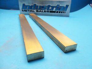 "2 Pieces 1//2/"" x 1/""  C360 Brass Solid Flat Bar 12/"" long New Brass Stock H02"