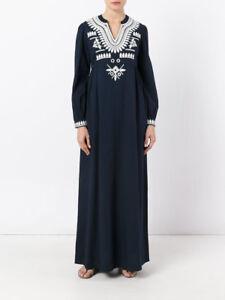 Kaftan Tunic Dress Navy