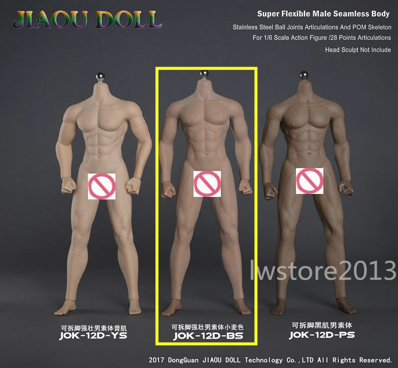 JIAOU DOLL 1 1 1 6 Strong Male Body Model Detachable Foot For 12  Figure Toy JOK-12D eff0f2