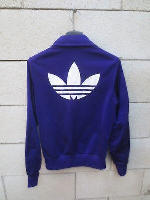 Veste ADIDAS rétro vintage violet TREFOIL sport détente tracktop jacket 36 | eBay