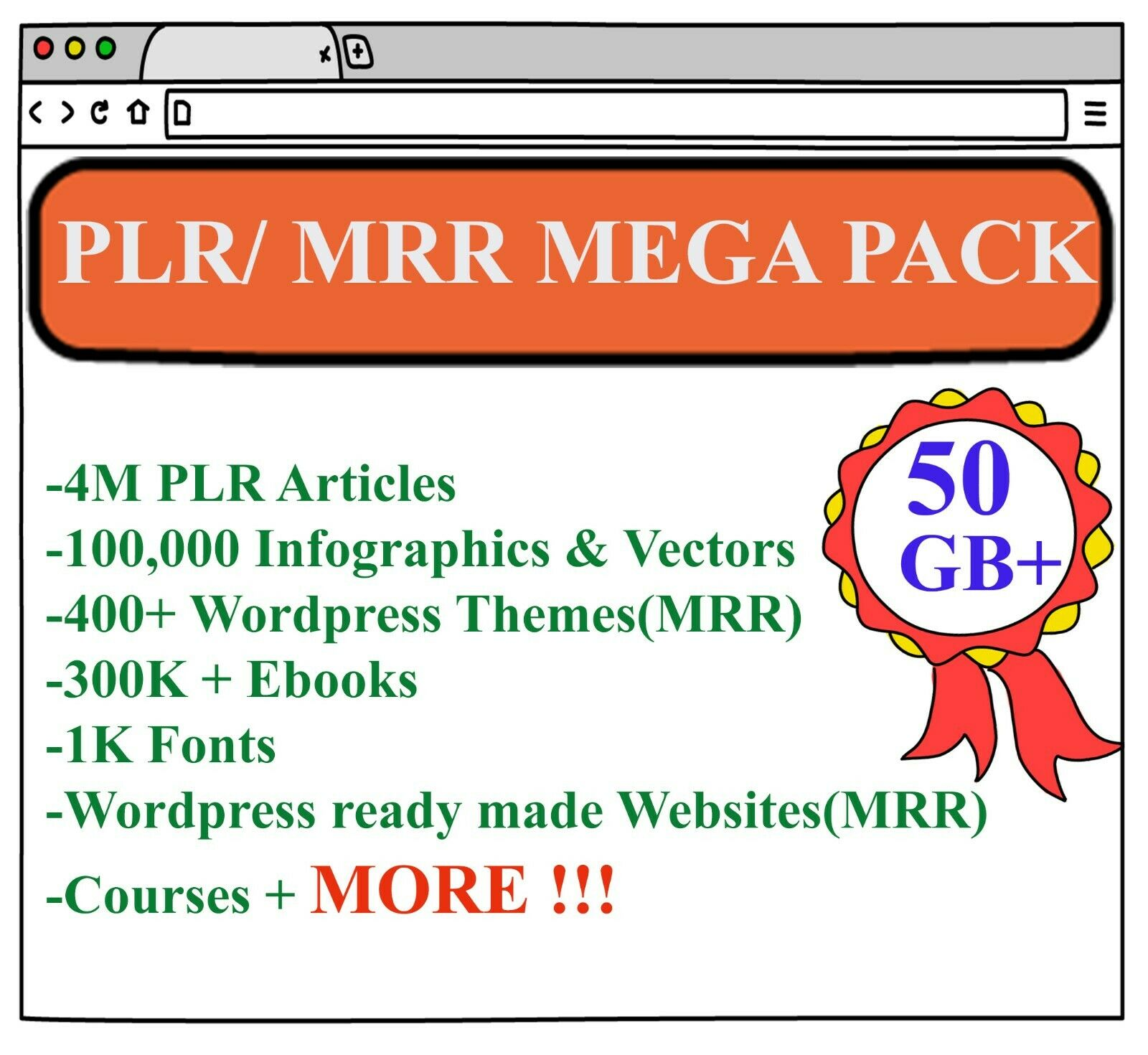 First time in ebay Amazing 50GB mega PLR Articles and MRR contents All in One