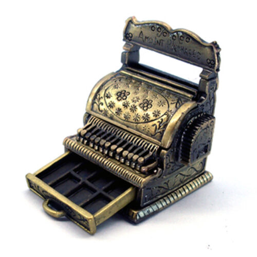Miniature Cash Register Dolls 1:12 Scale Supplies Register Till Cashier Till