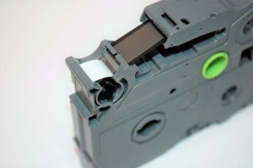 Beschriftungsband original Brother P-touch TZe-FX641 18mm sw//gelb Flexi-Tape