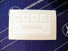 """Original Mercedes Aufkleber """"Radio Code"""" im  W124 W126 W140 W201 W202"""