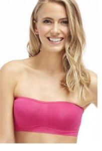 nwt fabletics sevan bandeau yoga bra hot pink xs 48053  ebay